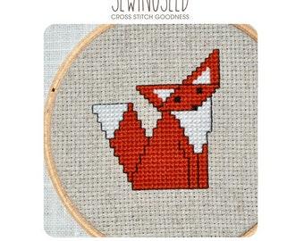 Little Fox Cross Stitch Pattern Instant Download
