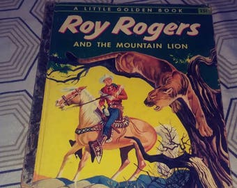 Choose from several mid-century Little Golden Books Lone Ranger, Gene Autry, Roy Rogers, or Daniel Boone Cowboy classics