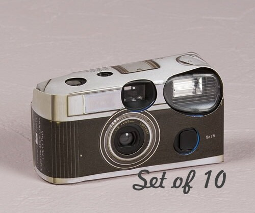Disposable Camera Wedding Idea: 10 Disposable Cameras Wedding Favor Vintage Design Camera