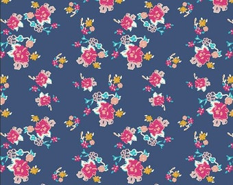KNIT Fabric: Art Gallery Bohemian Charms Abloom Cotton Lycra Knit Fabric. Sold by the 1/2 Yard