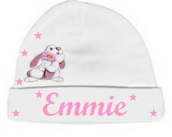 Beanie baby little white Bunny personalized with name