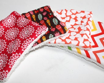 4 Makeup removers, Organic cotton wipes, Reusable wipes, organic baby washcloths