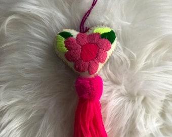 Handmade Embroidered Heart