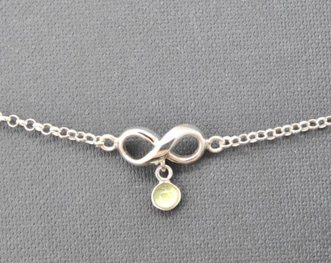 Infinity Bracelet, Anklet, infinity anklet, sterling silver anklet, infinity bracelet, infinity jewelry, 925, silver anklet, bridesmaid gift