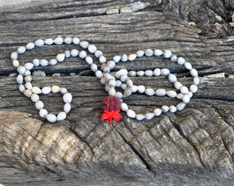 natural seeds mala necklace