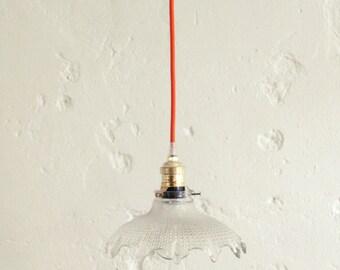 Pendant light glass, old Lampshade, lamp, vintage lighting