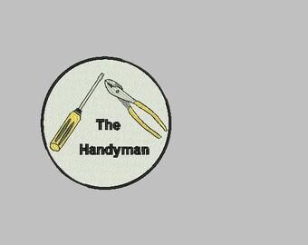Handyman machine embroidery design