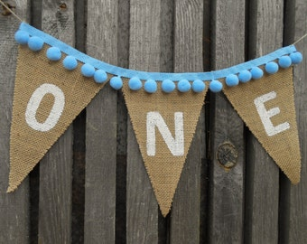 One Banner High Chair Banner I Am One Boy Banner 1st Birthday Banner Boy Banner Babies First Birthday One Burlap Banner Birthday One Banner