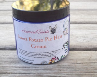 Family size 16oz Sweet Potatoe Pie Hair Cream conditioning leave in for naturally curly hair