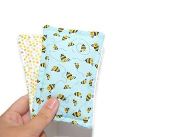 Reusable Sponge | Unsponge | Eco Friendly | Cleaning or Kitchen Sponge | Cotton and Terry Cloth | Urban Zoologie | Bumble Bees | Polka Dots