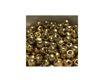 6/0 Gold Seed Beads 10 gm