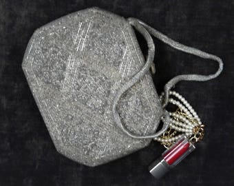 Beaded Evening Bag made by Delill in Japan