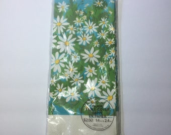 Floral Paper Tablecloth Daisies Party Table Cover Vintage Boho Hippie Hippy Carlton Cards