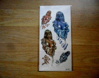 Temporary tattoos various M135 19 X 9 CM
