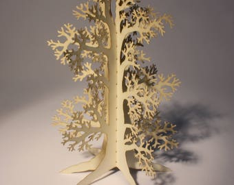 Old Oak Tree greetings, birthday, Christmas card, original gift, 3D, flat-pack, fold out, laser cut