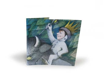 Wallet - Where The Wild Things Are - Recycled Childrens Book Page in PVC - Book Lover, Boys Wallet, Gift for him