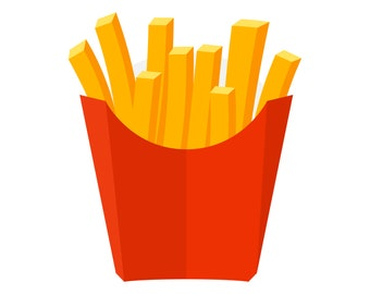 French fries, French fry, Fries, SVG,Graphics,Illustration,Vector,Logo,Digital,Clipart