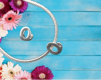 Lowercase 'o' Sterling Silver Charm Necklace With Gift Box