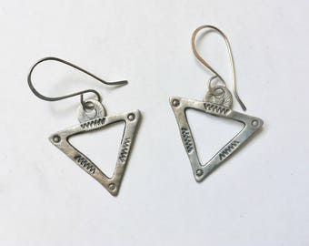 new artisan triangle earrings in sterling