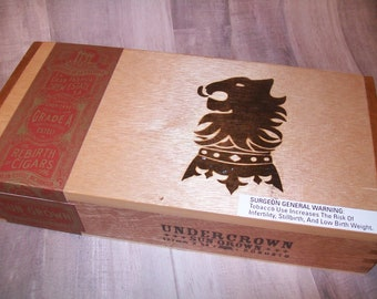 Empty Wooden Cigar Box - UnderCrown - Sun Grown - Robusto
