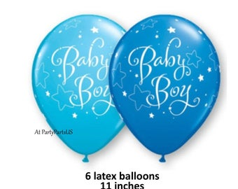 baby boy balloons, blue twinkle little star decorations, baby shower, gender reveal party supplies, boys, babys first birthday, 1st, stars