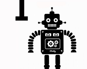 One today - robot birthday card