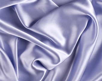 Light Blue Silk Charmeuse, Fabric By The Yard