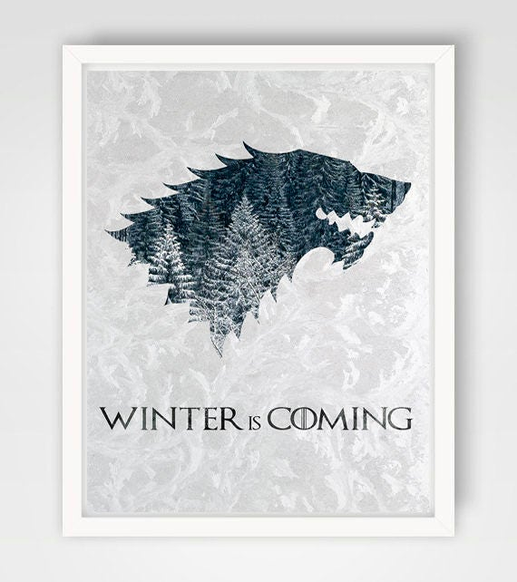 Game Of Thrones House Stark Print House Stark Art House