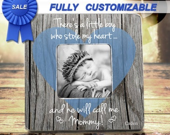 Mommy Picture Frame Mothers Day Gift Theres This Boy Who Stole My Heart Frame Gift To Mom From Son Baby New Mommy Gift Frame New Mom Gift
