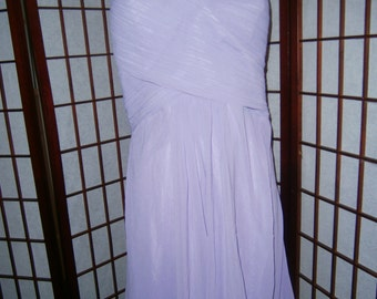 Women's Pale Lavendar Dress-Straps and Gathered Bustline