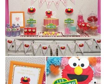 Pink Elmo Birthday | Elmo Birthday Decorations | Sesame Street Party Printable | Elmo Party Printable | Epic Parties by REVO