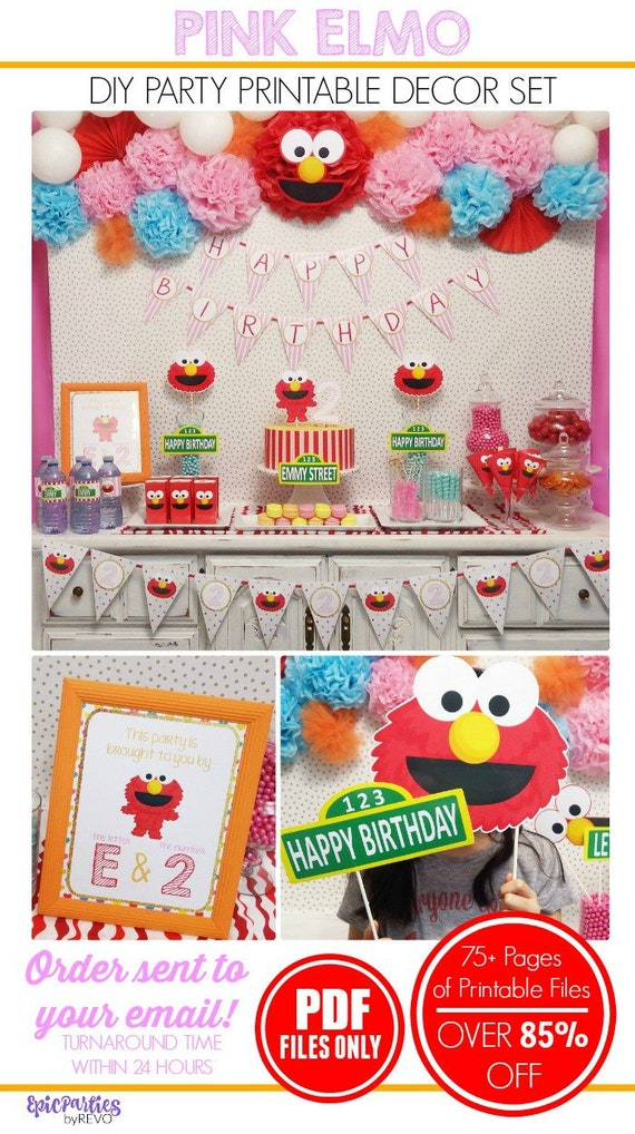 Pink Elmo Birthday Elmo Birthday Decorations Sesame Street