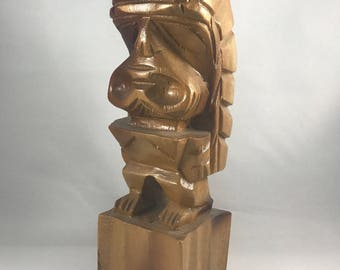 Hand Carved Tiki Statuette