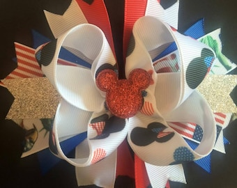4th of July Mickey Bow