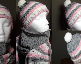 Complete scarf and hat girl