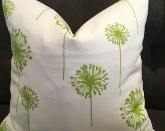 Green Dandelion Down Feather Pillow