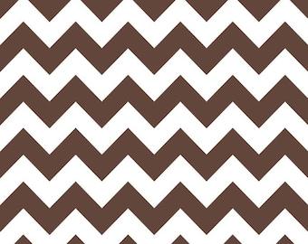 CLOSEOUT SALE Brown Medium Chevron by Riley Blake 1 Yard