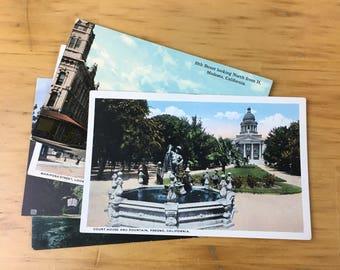 Lot of Postcard California Lithograph Landscape Scenic 1950 Travel Souvenir