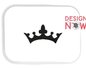 Crown Diadem Machine Embroidery Design - 5 Sizes