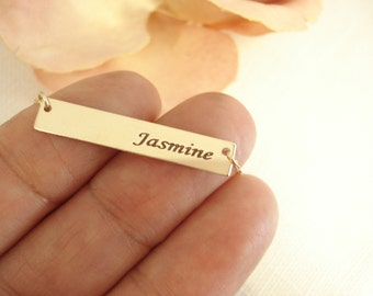 Personalized Gold filled bar necklace...Engraved Bar, sorority, best friend gift, wedding, bridesmaid gift