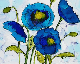 Your Choice 8 x 10 Poppies Print Free Shipping