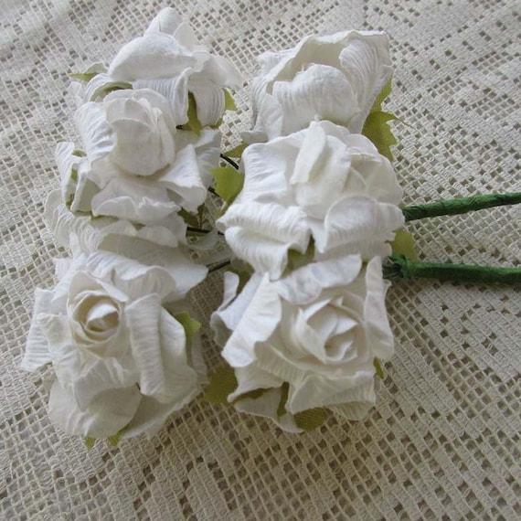 Paper flowers 24 millinery crinkle roses in white nstr 4 bundles paper flowers 24 millinery crinkle roses in white nstr 4 bundles from 32northsupplies on etsy studio mightylinksfo