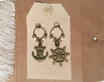 Wine Glass Charms Magnet - PIRATES