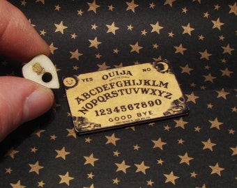 1:12 Dollhouse Miniature Ouija Board with Glow in the Dark Planchette-In Stock