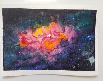 Nebula Original Watercolor Painting
