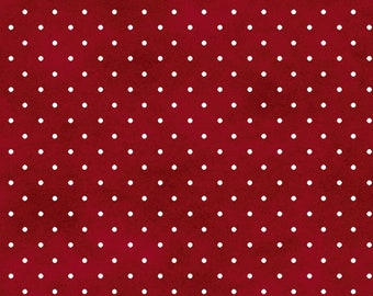Pin Dots - Red 609-R by Maywood Studio Cotton Fabric Yardage