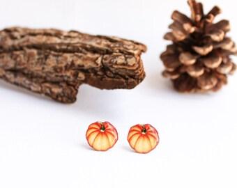 Pumpking earrings , fall studs , fall jewelry , helloween earrings , pumpkin studs , autumn earrings , autumn jewelry , helloween jewelry