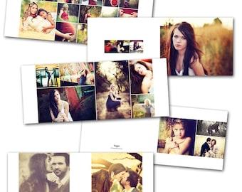 Minimalist 8x10 (horizontal) Album - Photoshop album template download by Photographer Cafe