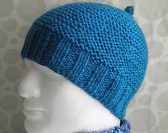 KNITTING PATTERN  Mans Simple Beanie Pattern / Knit Straight/ Mans Easy Knit Beanie Pattern/  Mans knit hat pattern