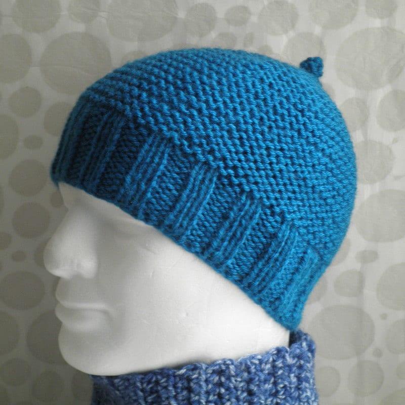 Knitting Pattern Mans Simple Beanie Pattern Knit Straight